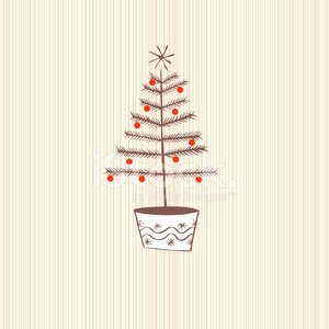 Jolly festive Christmas tree wood background pattern illustratio