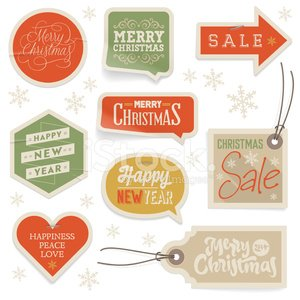 Stickers & Labels for Christmas and New Year