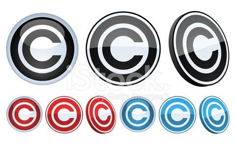 Copyright Symbol Badge