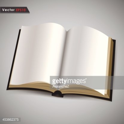Open Book With Blank White Pages premium clipart