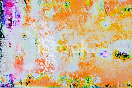 Abstract painted orange art backgrounds.