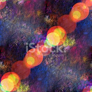 Sun Glare Seamless Texture of Colorful Abstract Space Planet