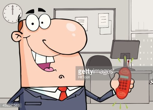 Businessman Holding A Phone In Office