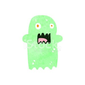 retro cartoon spooky ghost