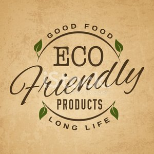 Vintage eco vector sticker label