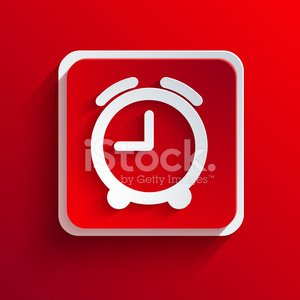 Vector square red icon. Eps10