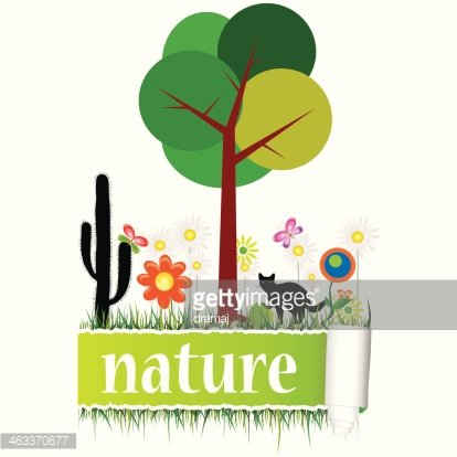 nature with flower art vector