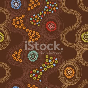 Abstract endless background with flowers