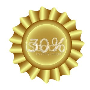 Yellow Vector Label-30%