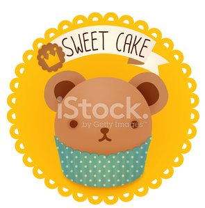 Cute bakery badge and label