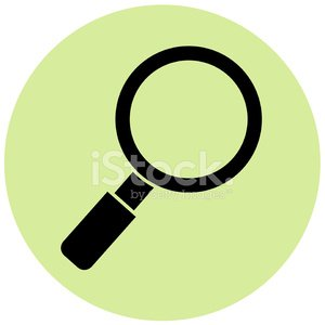 magnifying glass on green circle