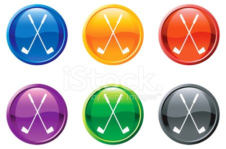 royalty free vector golf vector icon set round buttons