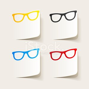 realistic design element: glasses