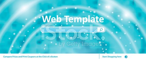 Web Banner Template With Search Bar