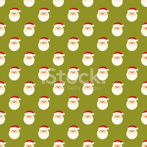 Abstract Christmas Santa Clause face pattern wallpaper