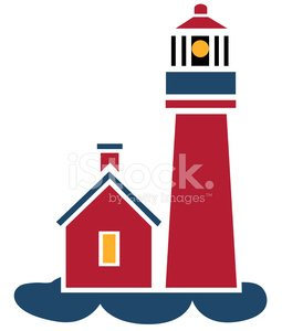 lighthouse icon in color