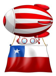 stripe-colored balloon with the flag of Chile