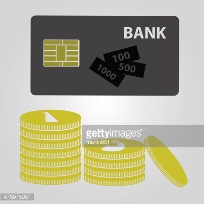 means of payment - money and card eps10