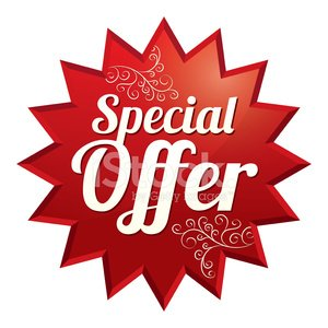 Special offer price tag (vector). Icon for sale.