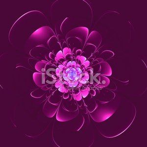 Beautiful flower on purple background. Computer generated