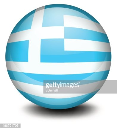 ball with the flag of Greece