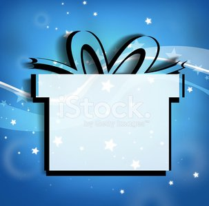 Gift Creative Silhouette Design on background