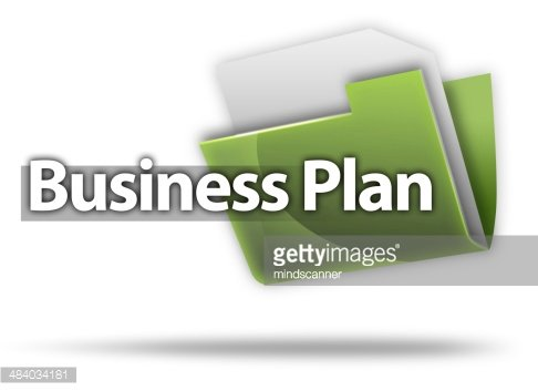 3D Style Folder Icon 'Business Plan'