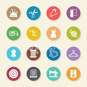 Sewing Icons - Color Circle Series