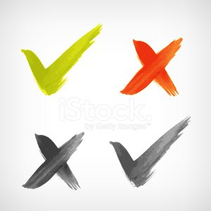 Brushed vector check mark sing / icon