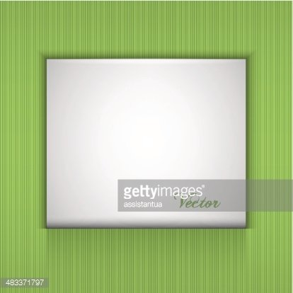 Green Backgrounds With A White PlateVector