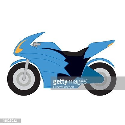Vector Cartoon Simple Motorcycle On White Background Premium Clipart