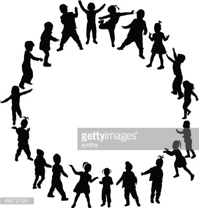 Silhouettes Of Children - Kid Silhouette Png , Free Transparent Clipart -  ClipartKey