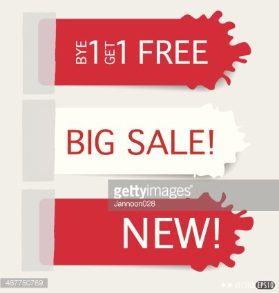 Set of sticker price tag, discount tags for price list.