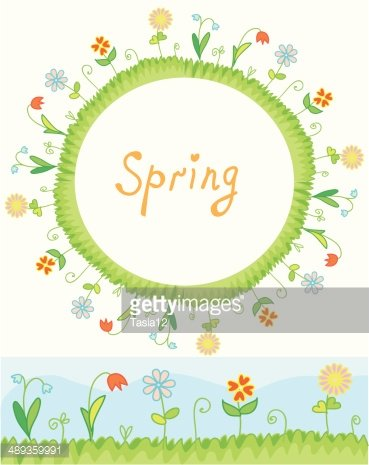 Spring Flowers Frame And Border Premium Clipart Clipartlogo Com