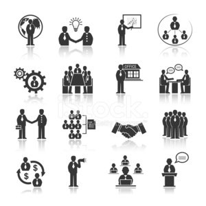Business People Meeting Icons Set 294646
