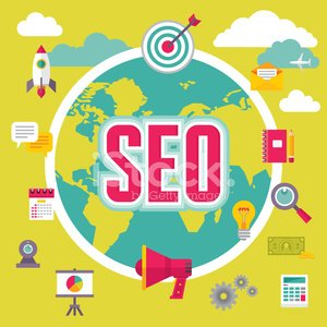 Concepto de ilustración de SEO (Search Engine Optimization)