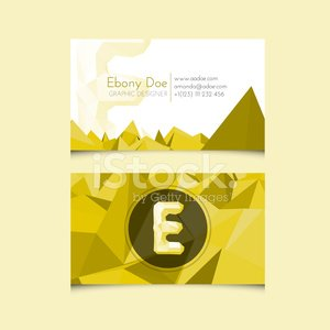Low poly business card template with alphabet letter e premium low poly business card template with alphabet letter e spiritdancerdesigns Choice Image