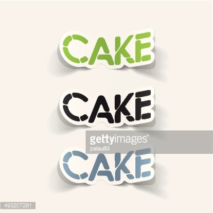 realistic design element: cake