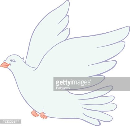 Dove Of Peace On A White Background Clipart Image 1 566 198