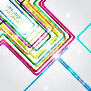 Line color abstract design