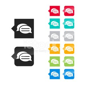 Messages icon for user interface - flat and glossy.