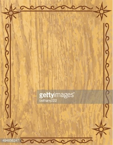 Tan And Beige Wood Grain Grunge With Border