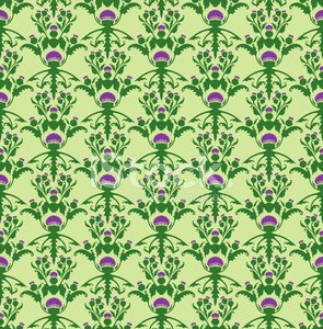 Scottish thistle - seamless pattern