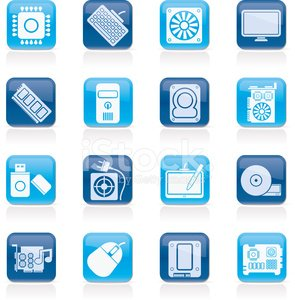 Computer part icons