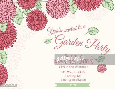 Garden Party Invitation Template premium clipart - ClipartLogo.com