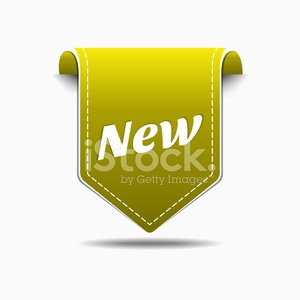 New Collection Yellow Label Icon Vector Design