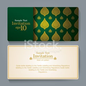 Invitation card design, Asian art background.