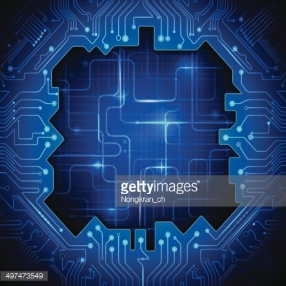 Blue-abstract technology with a circuit lines