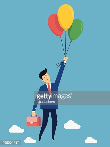Flying over with balloon