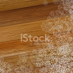 Christmas snowflake on a wooden background. + EPS8